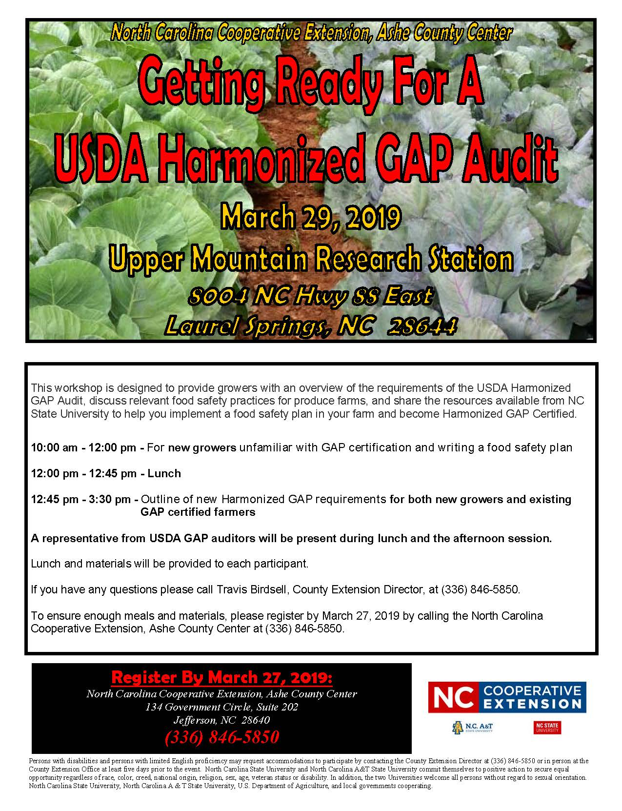 Getting Ready for a USDA Harmonized GAP Audit flyer image
