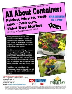 All About Containers: Gardening in a Pot Flier