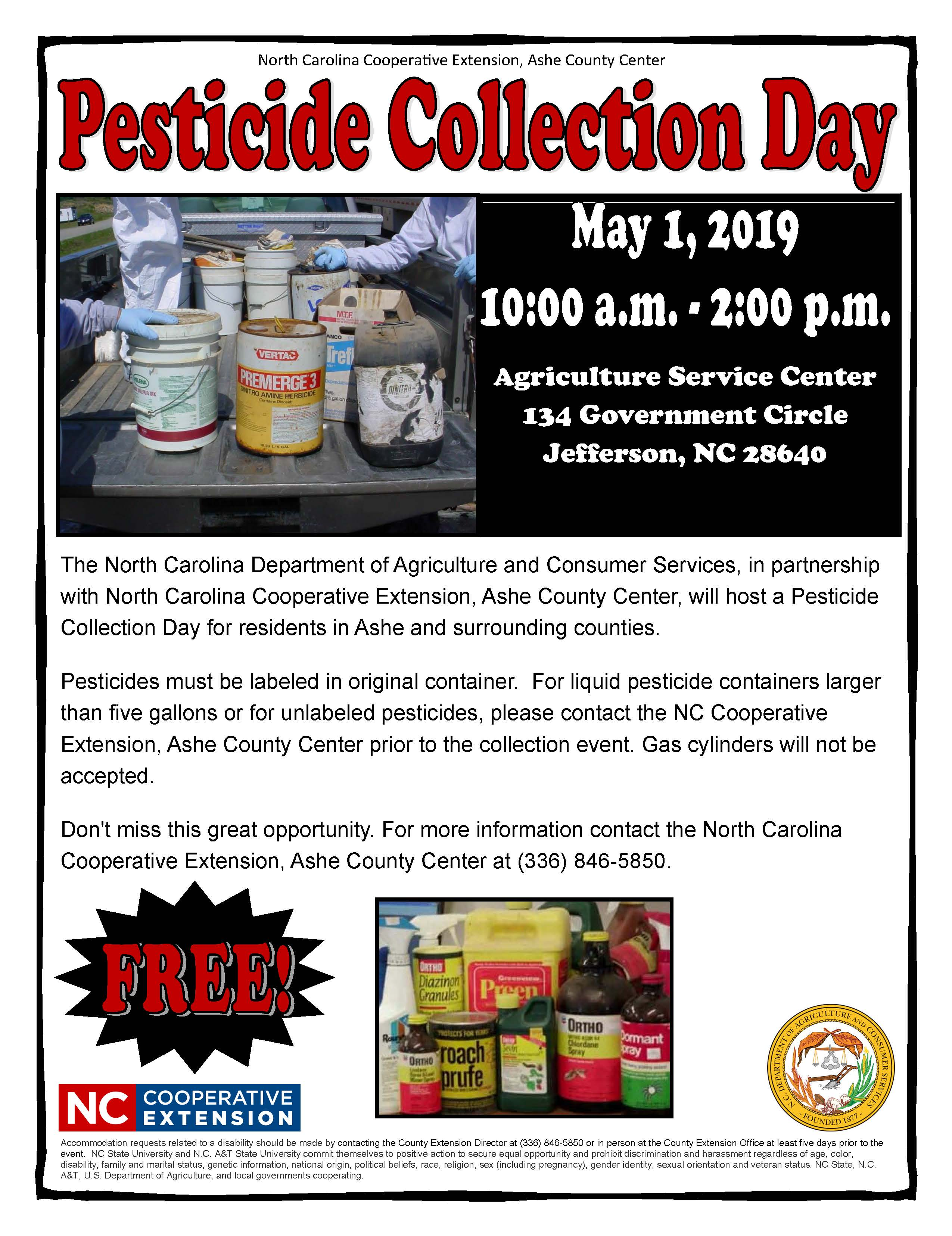 Pestocide Collection Day flyer image