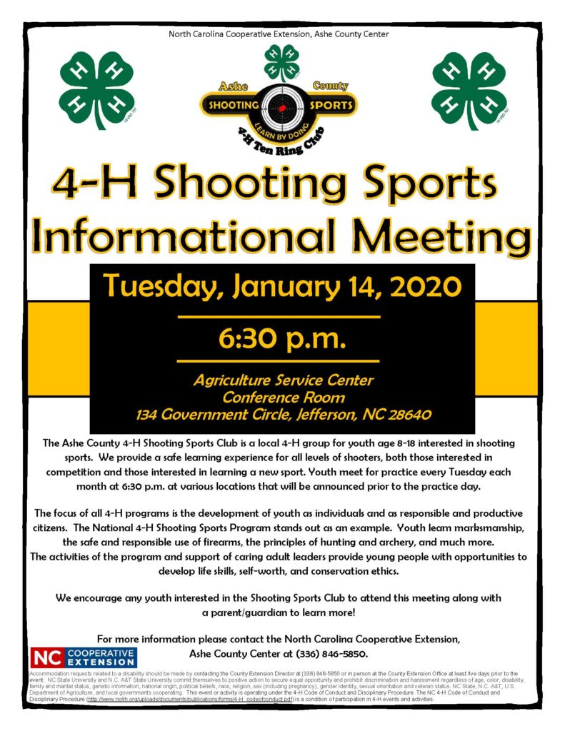 4-H Shooting Sports flyer image