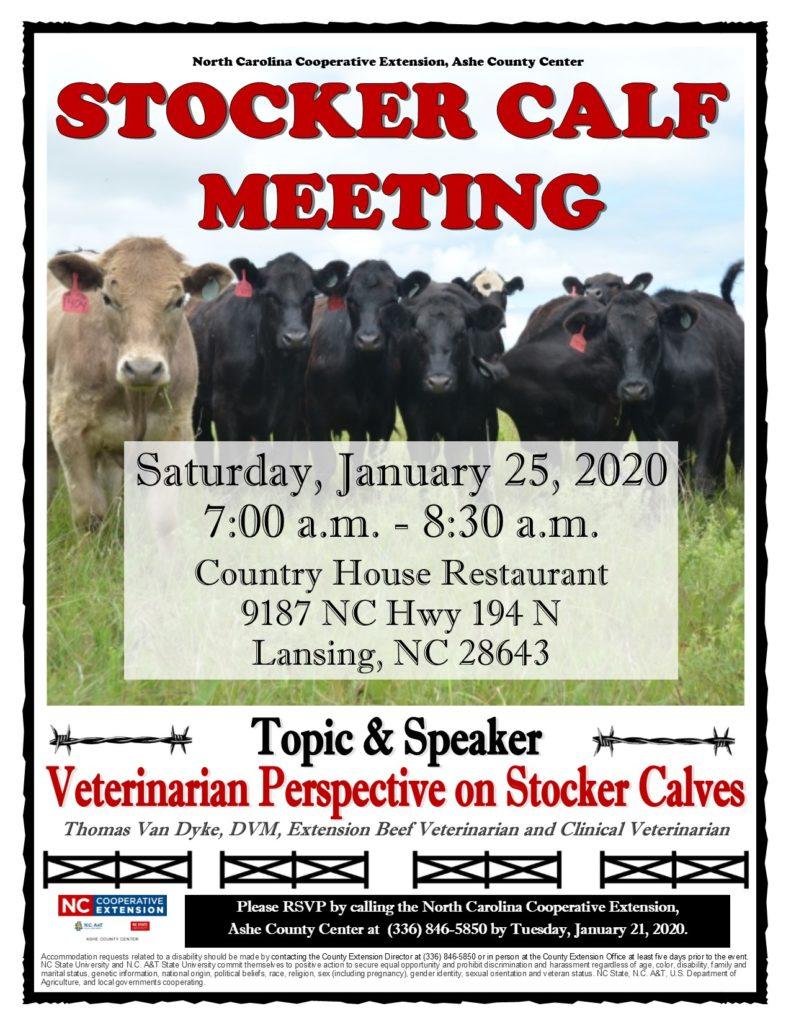 Stocker Calf Meeting flyer