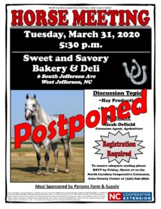 Cover photo for Postponed - Ashe County Horse Meeting - Postponed