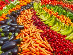 Variety Fruits and Vegetables